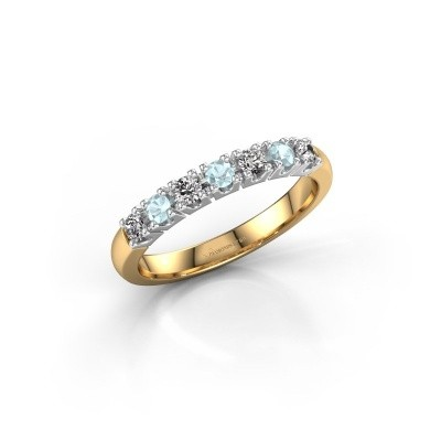 Engagement ring Rianne 7 585 gold aquamarine 2.4 mm