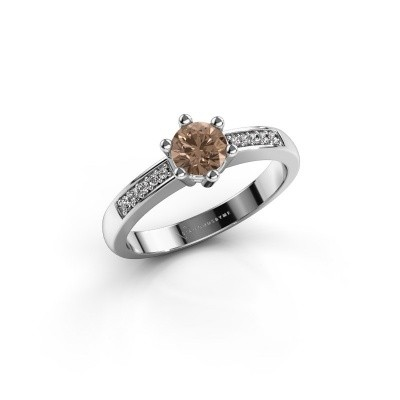 Foto van Verlovingsring Luna 2 585 witgoud bruine diamant 0.50 crt