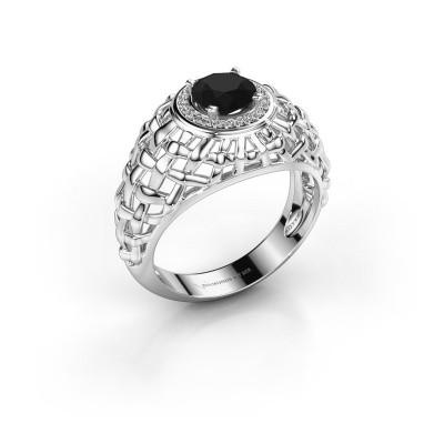 Pinkring Jens 950 platina zwarte diamant 1.320 crt