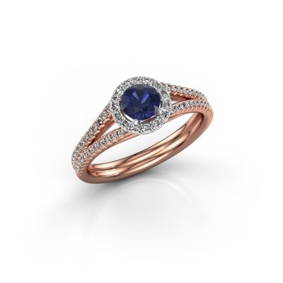 Picture of Engagement ring Verla 2 585 rose gold sapphire 4.7 mm