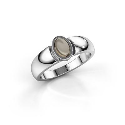 Ring Tonneke 925 Silber Rauchquarz 6x4 mm