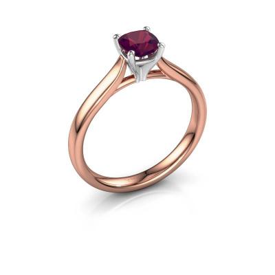 Verlovingsring Mignon cus 1 585 rosé goud rhodoliet 5 mm