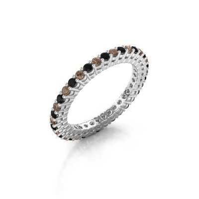 Aanschuifring Rufina 2 585 witgoud bruine diamant 0.792 crt