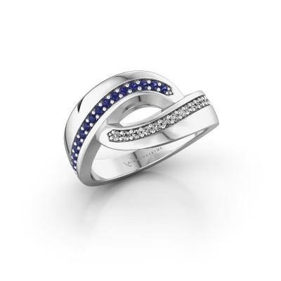 Ring Sharita 925 zilver saffier 1.2 mm