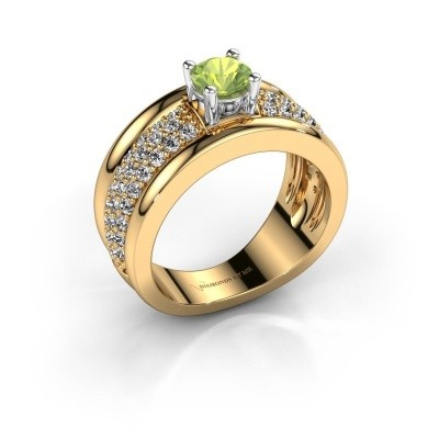 Ring Alicia 585 Gold Peridot 5 mm