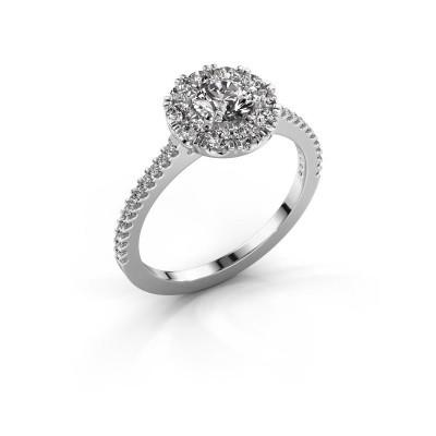 Picture of Engagement ring Misti 2 950 platinum zirconia 5 mm