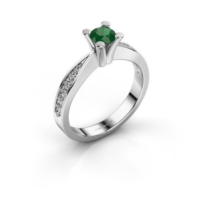 Promise ring Ichelle 2 925 zilver smaragd 4.7 mm