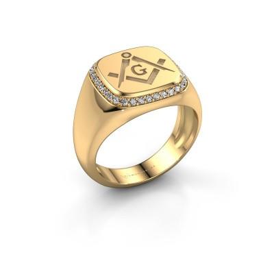 Foto van Heren ring Johan 585 goud zirkonia 1.2 mm