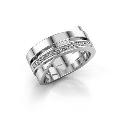 Ring Yolando 950 platina lab-grown diamant 0.16 crt