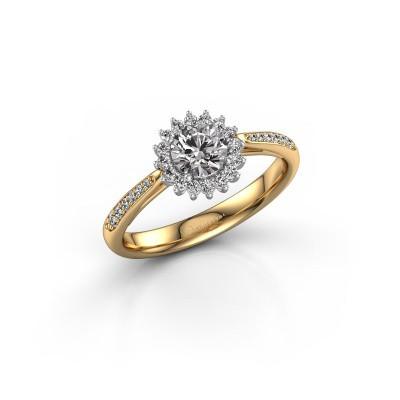 Engagement ring Tilly RND 2 585 gold zirconia 5 mm