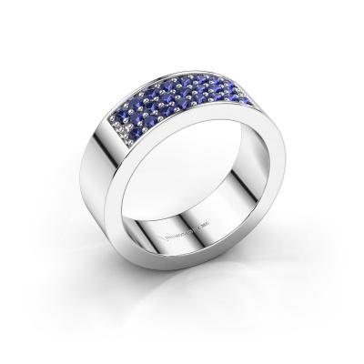 Ring Lindsey 5 925 zilver saffier 1.7 mm