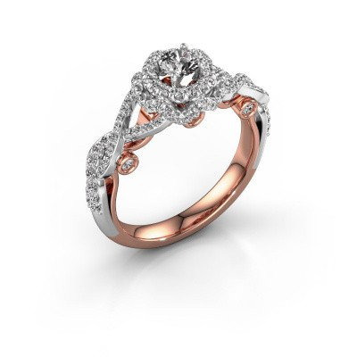 Picture of Engagement ring Cathryn 585 rose gold diamond 0.864 crt