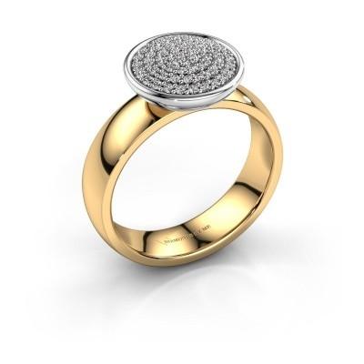 Foto van Ring Tilda 585 goud zirkonia 1 mm