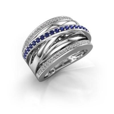 Foto van Ring Clair 2 925 zilver saffier 1.5 mm