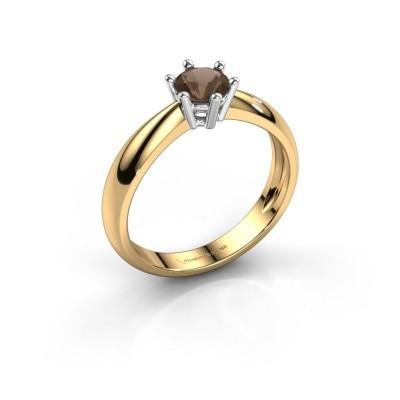 Verlovingsring Fay 585 goud rookkwarts 5 mm