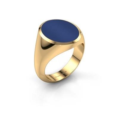 Foto van Zegelring Herman 6 585 goud lapis lazuli 16x13 mm