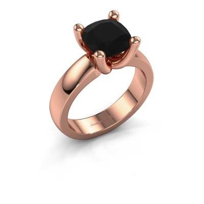Ring Clelia CUS 585 rose gold black diamond 3.60 crt