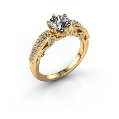 Engagement ring Christeen 375 gold diamond 1.23 crt