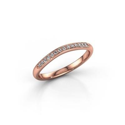 Aanschuifring SR20A4H 375 rosé goud lab-grown diamant 0.113 crt