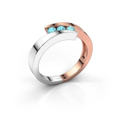 Picture of Ring Gracia 585 rose gold blue topaz 2.7 mm