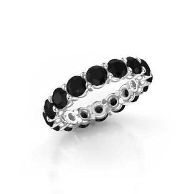 Foto van Aanschuifring Heddy rnd 4.0 950 platina zwarte diamant 4.80 crt