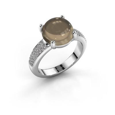 Foto van Ring Sophie 925 zilver rookkwarts 10 mm