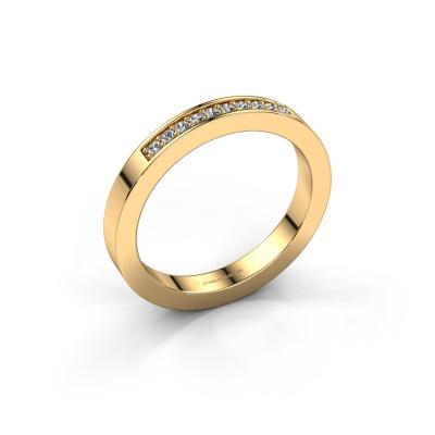 Aanschuifring Loes 3 585 goud zirkonia 1.3 mm