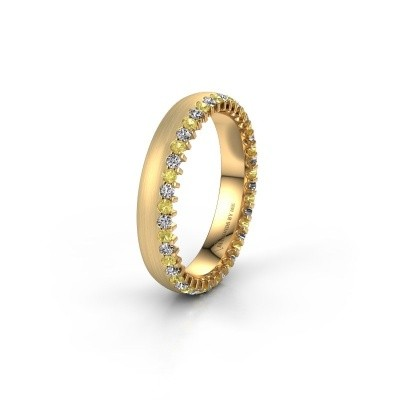 Wedding ring WH2138L24B 375 gold yellow sapphire ±4x2 mm