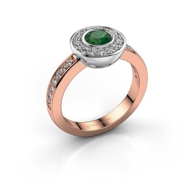 Ring Ivy 585 rose gold emerald 5 mm