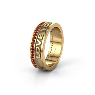 Wedding ring Namering 2 585 gold ±6x2 mm