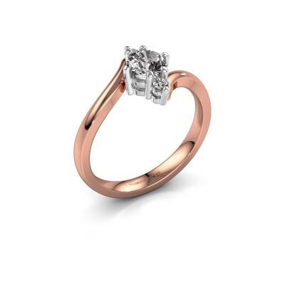Foto van Verlovingsring Genna 585 rosé goud diamant 0.56 crt
