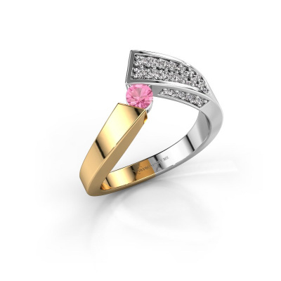Ring Evie 585 gold pink sapphire 3.4 mm