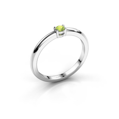 Picture of Engagement ring Michelle 1 950 platinum peridot 2.7 mm
