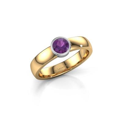 Ring Ise 1 585 goud amethist 4.7 mm