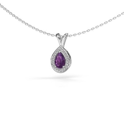Picture of Necklace Ginger 925 silver amethyst 6x4 mm