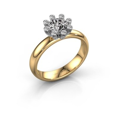 Stapelring Carola 3 585 goud lab-grown diamant 0.84 crt