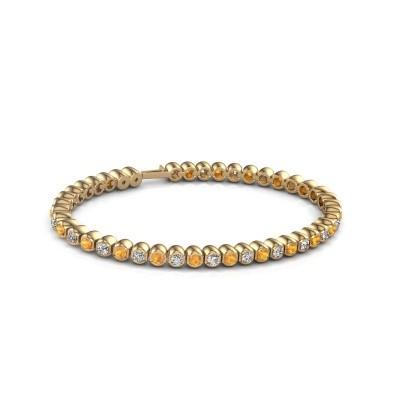 Tennisarmband Asley 375 goud citrien 3 mm