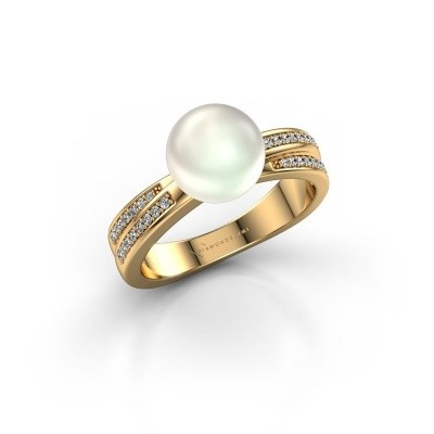 Foto van Ring Jolies 375 goud witte parel 8 mm