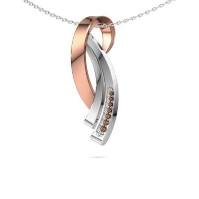 Foto van Ketting Lida 585 rosé goud bruine diamant 0.064 crt
