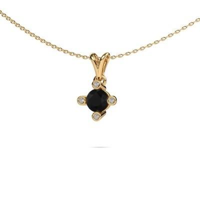 Foto van Hanger Cornelia Round 375 goud zwarte diamant 0.80 crt