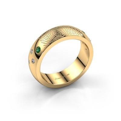 Foto van Ring Minke 585 goud smaragd 2 mm