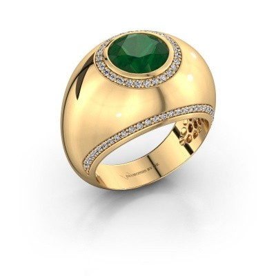Ring Roxann 375 gold emerald 8 mm