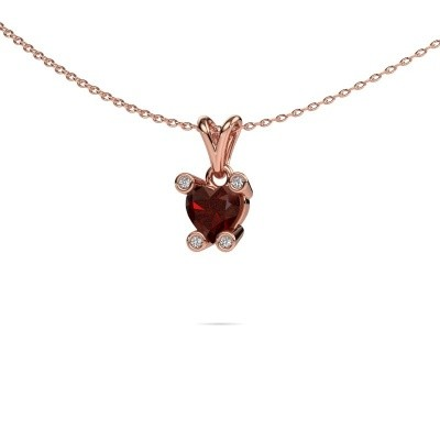 Picture of Necklace Cornelia Heart 375 rose gold garnet 6 mm