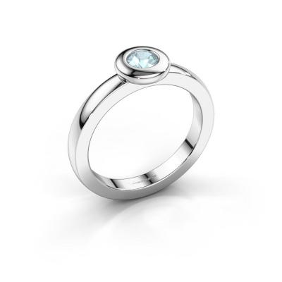 Ring Iris 585 white gold aquamarine 4 mm