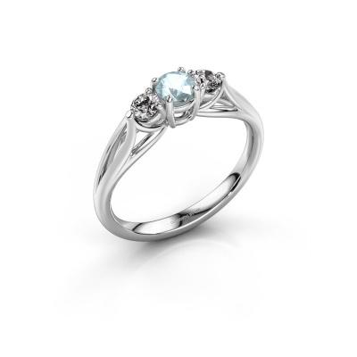 Picture of Engagement ring Amie RND 950 platinum aquamarine 4.2 mm