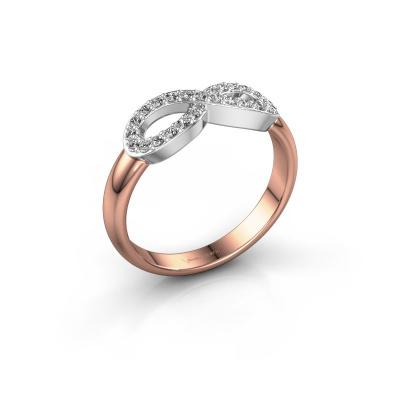 Ring Infinity 2 585 rosé goud lab-grown diamant 0.188 crt