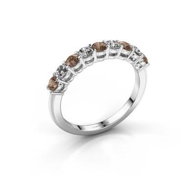 Foto van Belofte ring Michelle 9 585 witgoud bruine diamant 0.72 crt