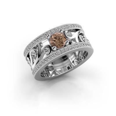 Bild von Ring Sanne 925 Silber Braun Diamant 1.13 crt