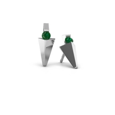 Picture of Earrings Corina 585 white gold emerald 3 mm