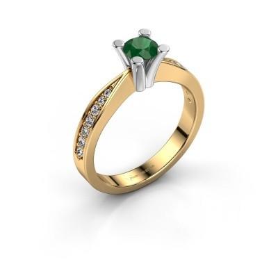 Promise ring Ichelle 2 585 goud smaragd 4.7 mm